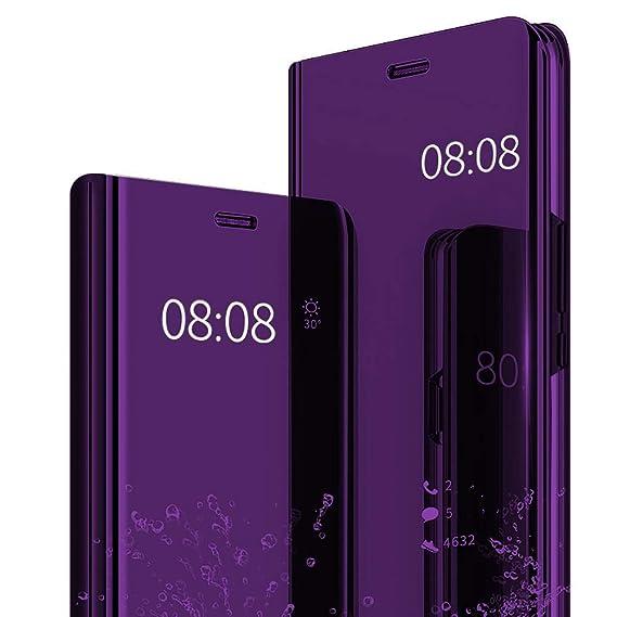 JEPER Funda Huawei Mate 9 Espejo PC Carcasa Flip 360° Protectora Ultra Delgado Choque Absorción Anti-Arañazos Case para Teléfono Huawei Mate 10 Caso ...