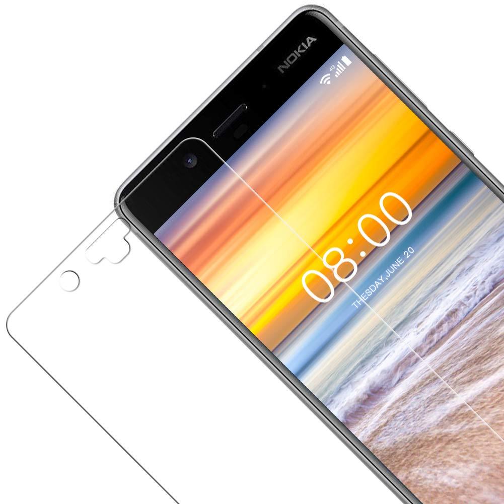 Vkaiy Protector de Pantalla para Nokia 8, [2 Unidades] [9H Dureza] [2.5D] Cristal Templado Vidrio Templado para Nokia 8