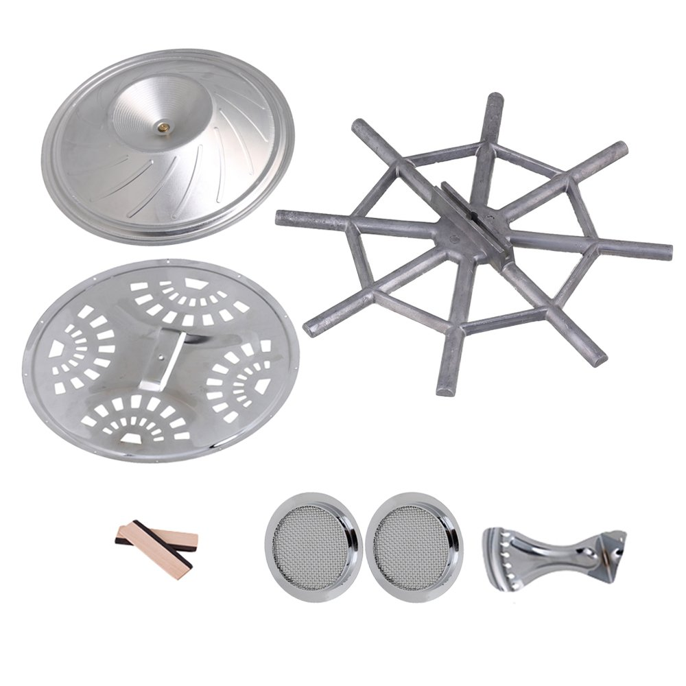 Yibuy Resonator Guitar Kit Bridge Soundhole Cover Resonator Tailpiece  Spider bridge Cover Resonator Cone Set of 8