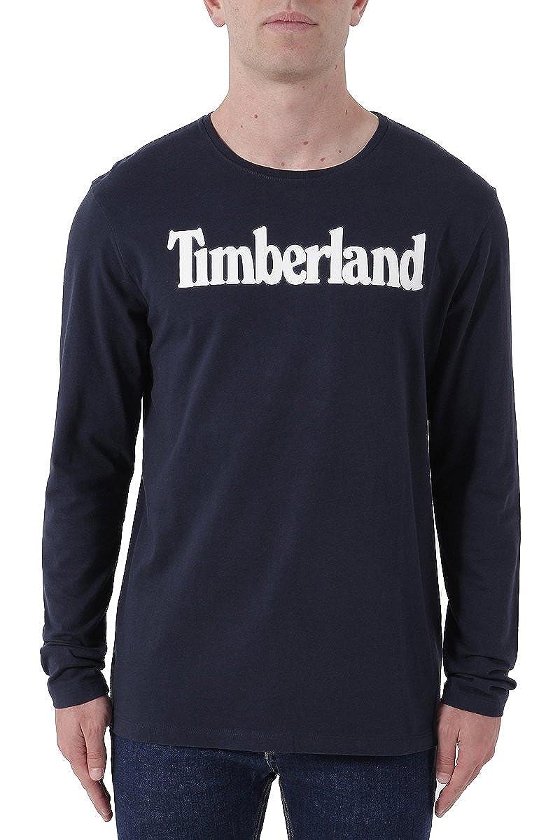 Timberland Tfo LS Linlogo Ring, T-Shirt Uomo CA1Q45