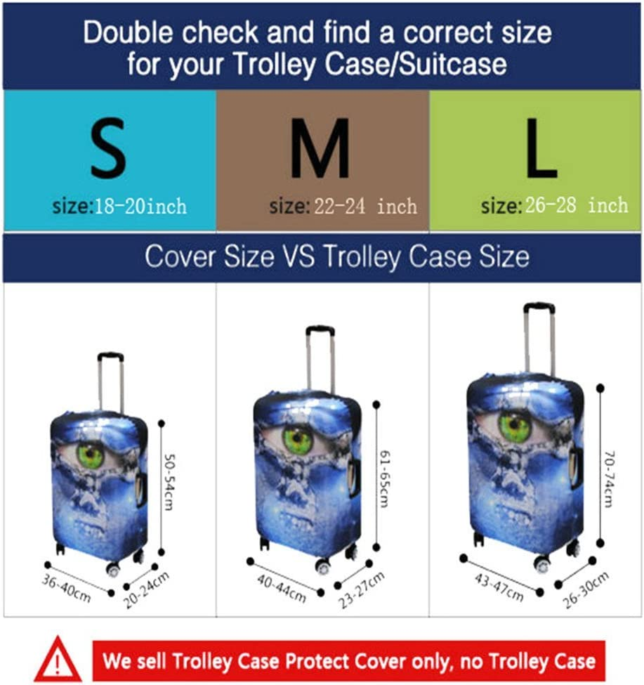 doginthehole Suitcase Cover Protector Cats Print luggage Case Covers For Women