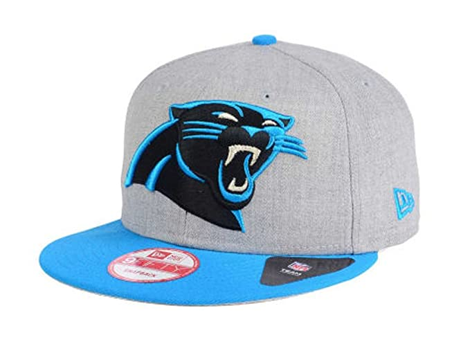 0491828e3 Amazon.com : Carolina Panthers Snapback New Era 9Fifty Heather Grand Cap Hat  Grey Wool Blue : Clothing