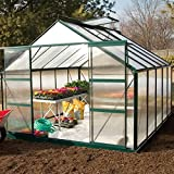 GrowSpan Estate Hobby Large Greenhouse - 9'1W x 7'3H x 12'2L w/Base