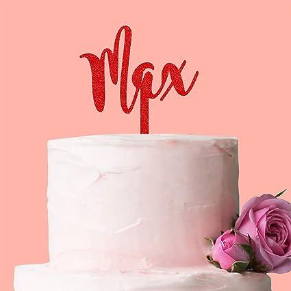 Decoración personalizada para tarta con nombre, ideal para ...