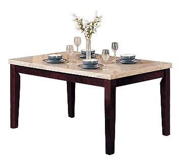 Amazon.com: Acme 17058 Mármol parte superior mesa de comedor ...