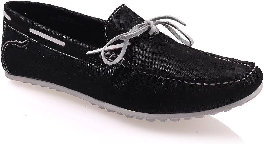 TALLA 44 EU. Unze Mocasines zapatos de cuero para hombre ' Grisby '