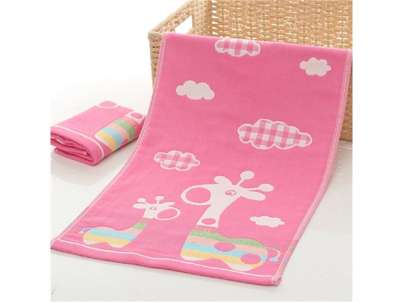 Confortevole Asciugamano quadrato per bambini in garza di cotone spazzolato per bambino HFjingjing