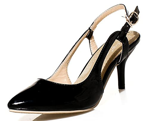 9eedc1ac9bb48 Amazon.com | Easemax Women's Elegant Kitten Heels Slip-on Metal ...