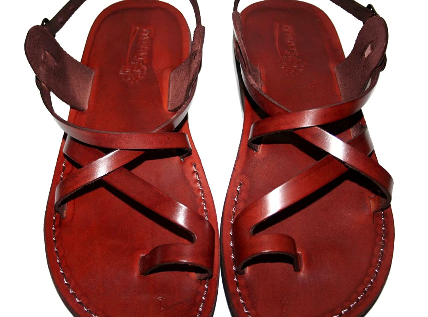Brown Roxy Unisex Leather Sandals / Genuine Handmade Leather Holy Land Biblical Jesus Sandals