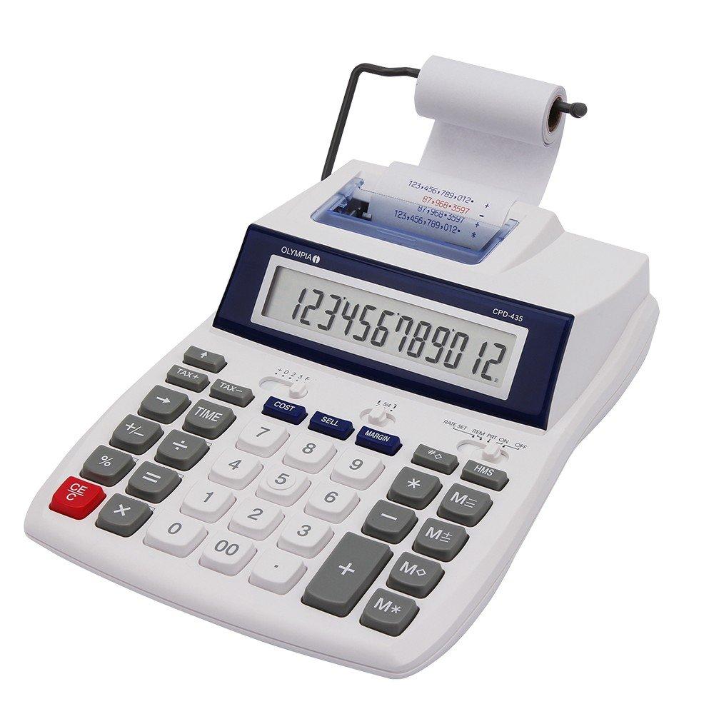 Olympia CPD 435 – Calculadora (impresora, 12 dígitos, pantalla LCD ...