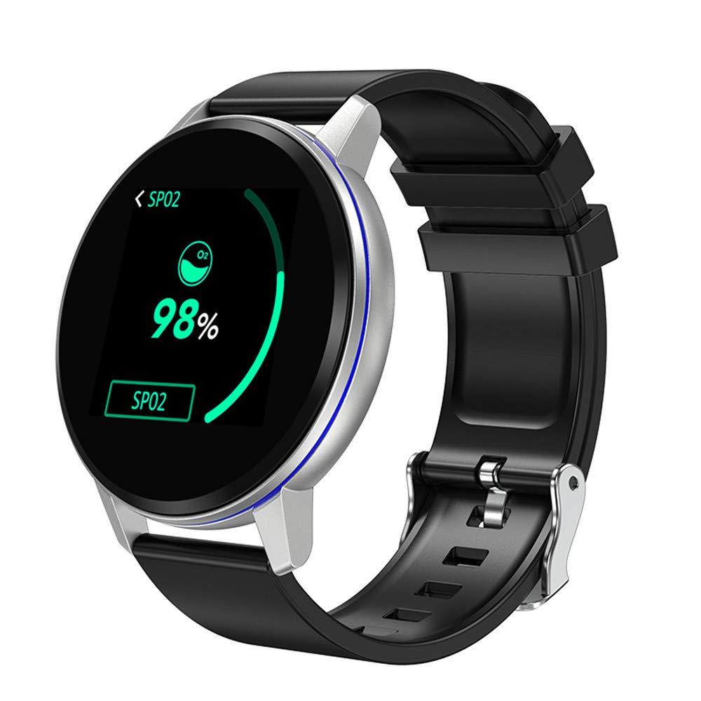 Boens Fitness Tracker,Bluetooth Smartwatch Touch Screen Wrist Watch,IP67 Waterproof Phone Smart Bracelet with Heart Rate Monitor Calories Sports Wrist Watch for Samsung iOS/Women/Kid/Men/ -Sliver