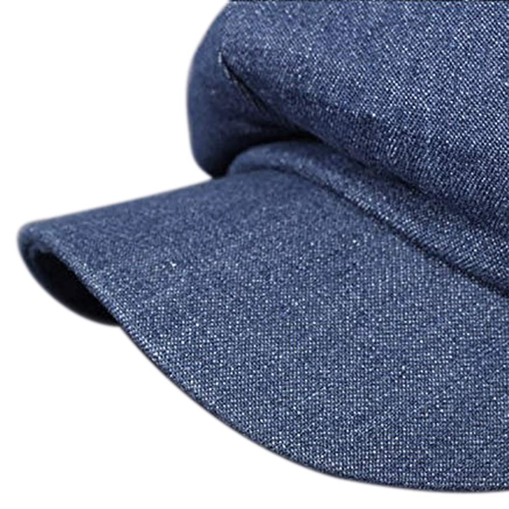 Opromo Women's Washed Denim Newsboy Gatsby Cabbie Hat Jean Berets Octagonal Cap-Denim Blue-48PCS by Opromo (Image #6)