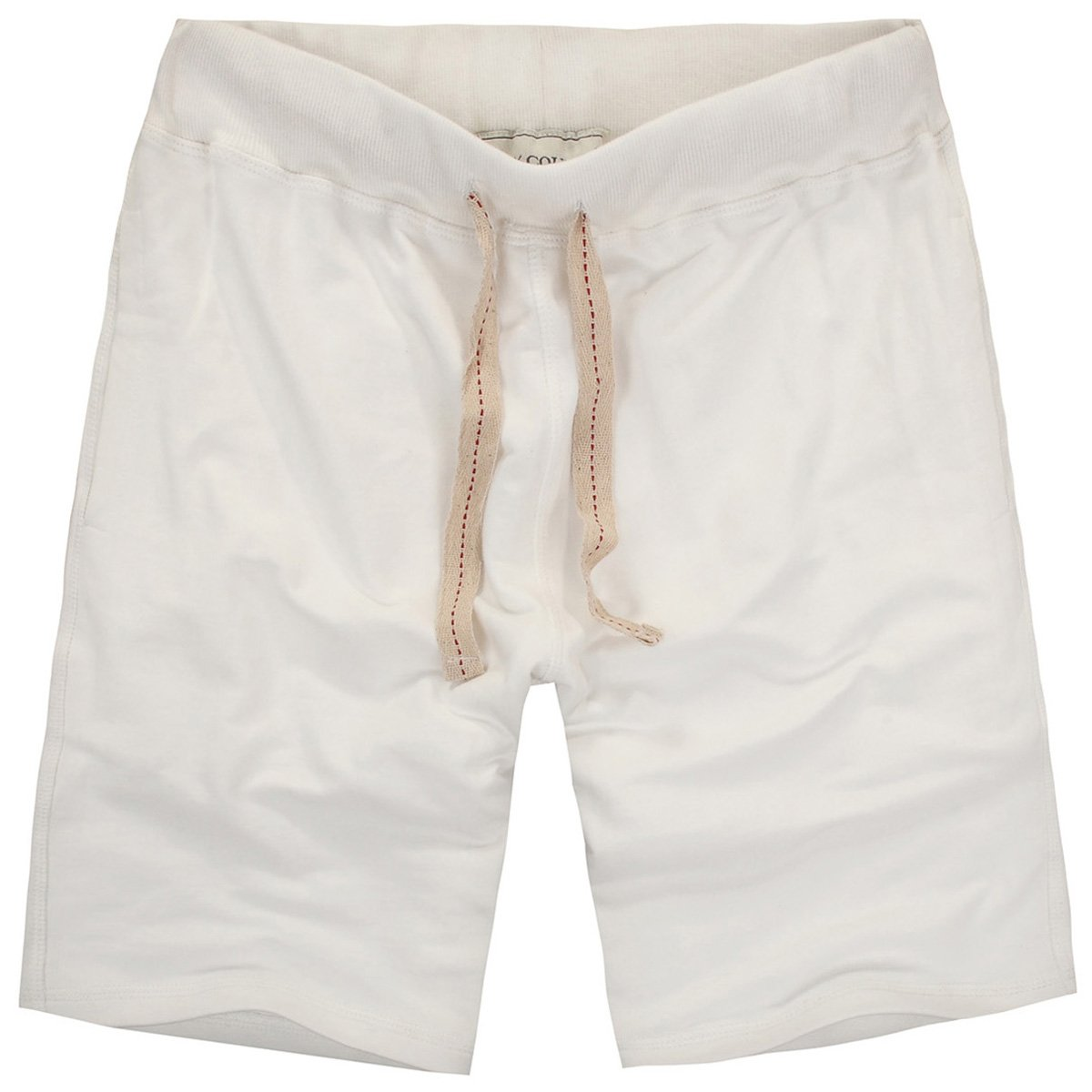 Amy Coulee Men's Casual Classic Cotton Gym Short (L, Beige)