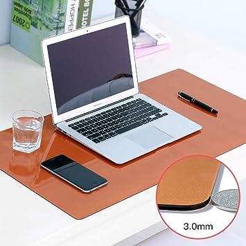 PVC Mate Mouse pad Impermeable, Teclado del ordenador portátil Escritorio protector de cojín Mantel de computadora Para juegos Escritura Trabajo-Color café ...