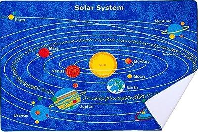 Kids Rug Solar System Children's Area Rug - Non Skid Gel Backing