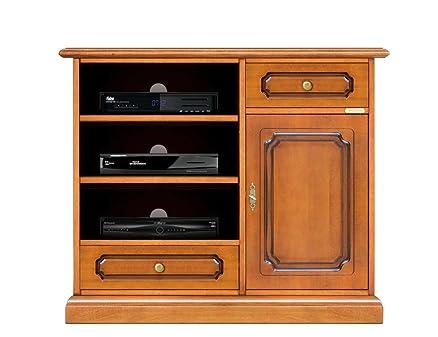 Mobile porta tv alto, mobile per tv in legno tinta ciliegio, porta ...
