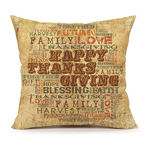 Printable Pumpkin Patterns (Happy Thanksgiving Family Quote Throw Pillow Case Cushion Cover Home Decor 18