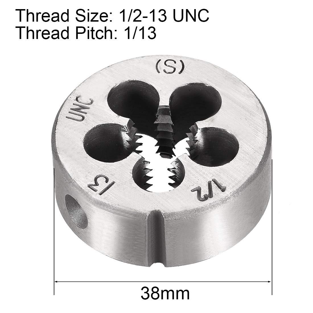 uxcell 1//2-13 UNC Right Hand Round Die Machine Thread Die,Threading Die,Screw Die Tool,High Speed Steel