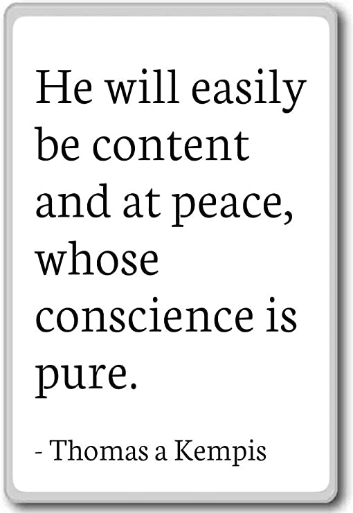 Amazon.com: He will easily be content and at peace, who ...