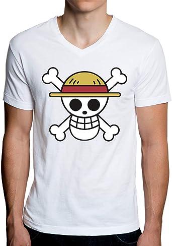 One Piece Camiseta con Cuello de Pico para Hombre: Amazon.es: Ropa y accesorios