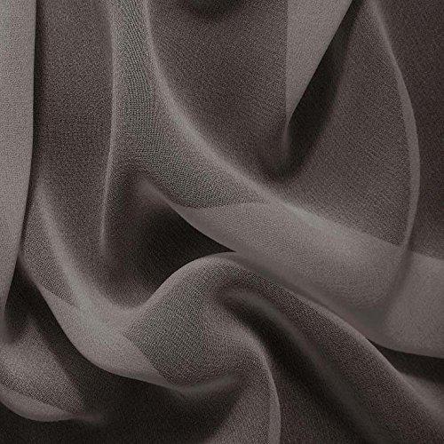 Silk Chiffon Charcoal Gray Fabric
