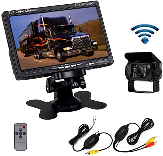 """Wireless Rear View Back up parking Camera IR Night Vision System+7/"""" Lcd Monitor"""