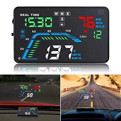 GPS del Coche HUD, HD 5.5 del Multicolor Automóvil Head Up ...