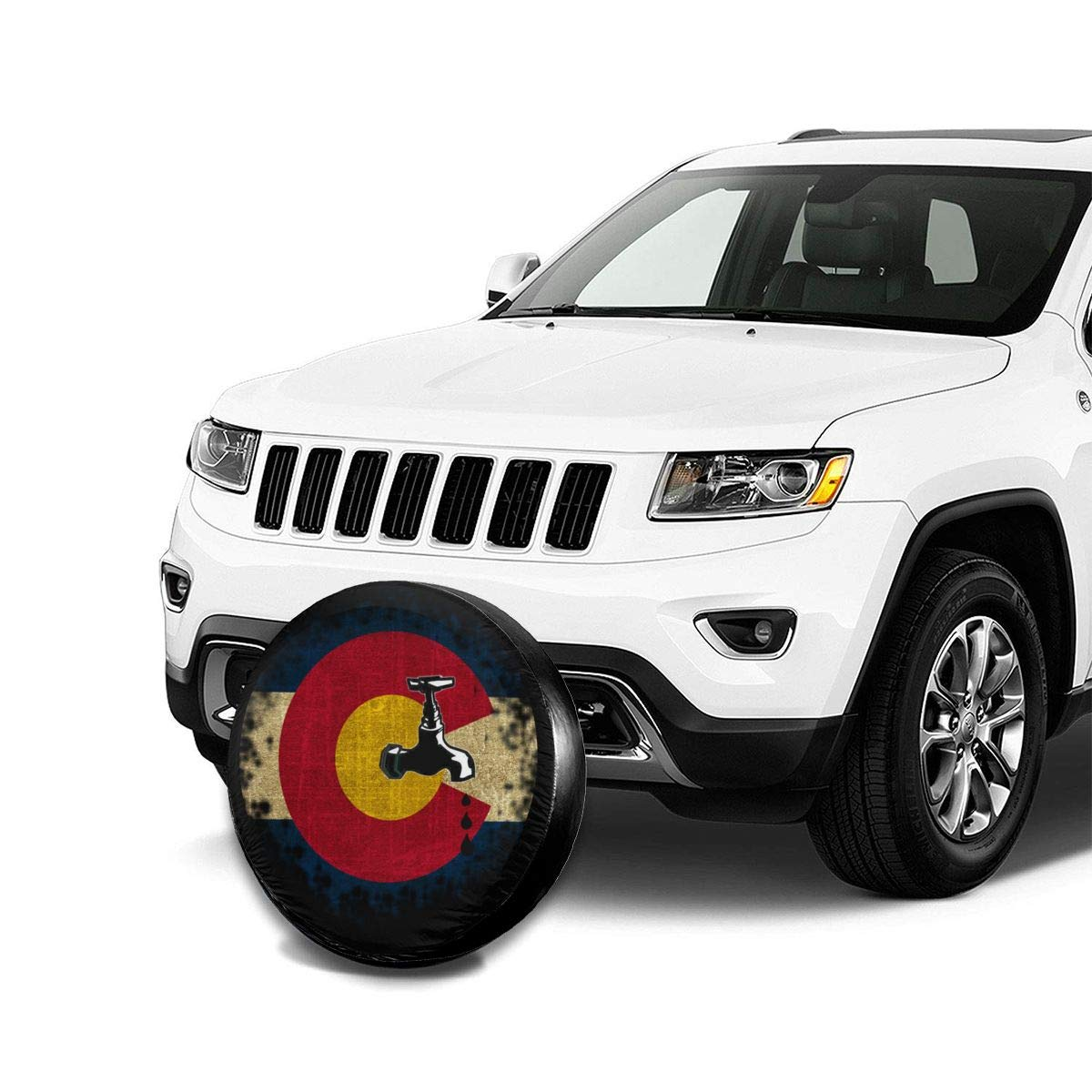 14 15 16 17 RV Blirh American Flag US Navy Universal Spare Wheel Tire Cover Fit for Trailer SUV and Various Vehicles