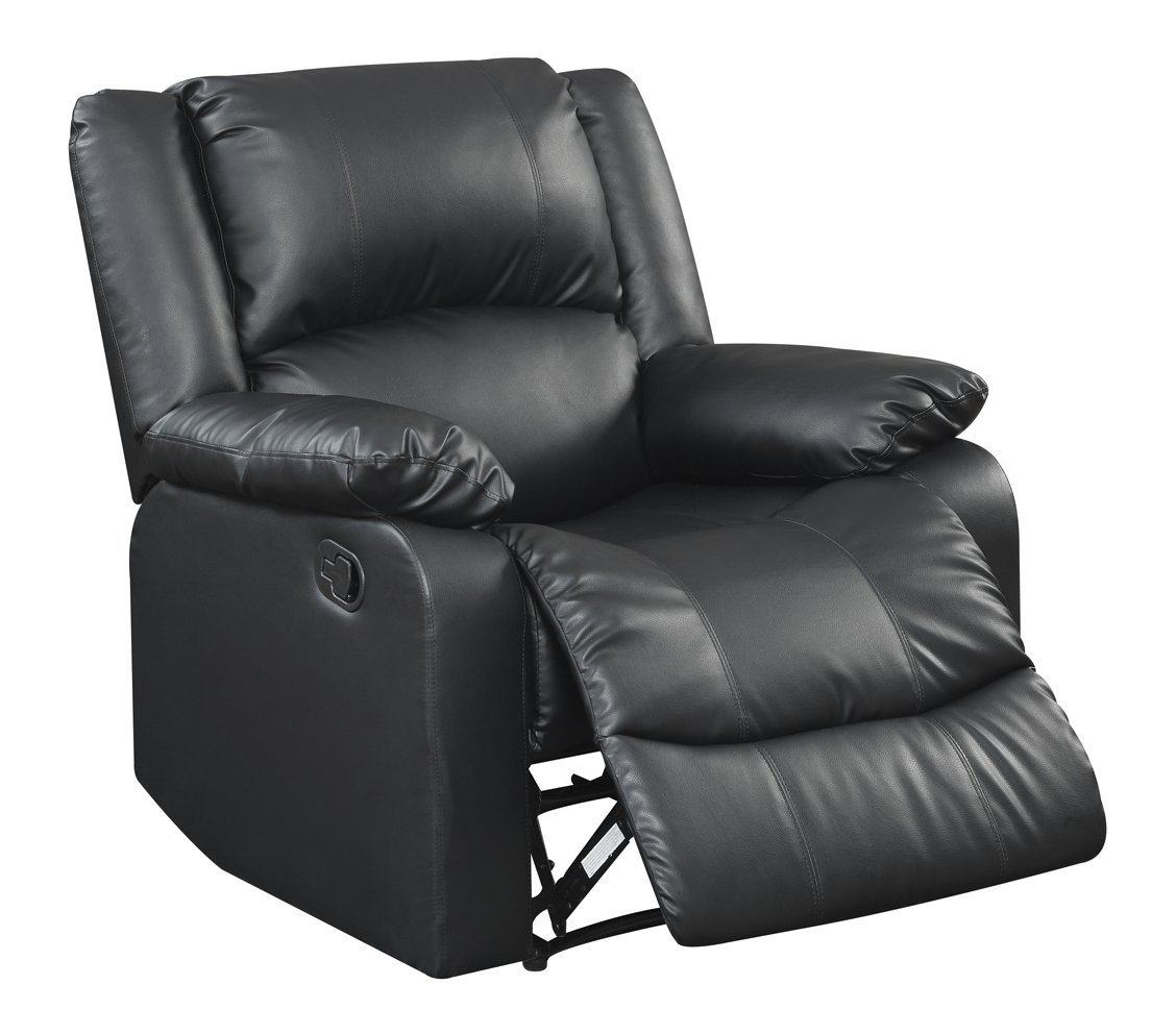 Warren Reclining Chair - Black