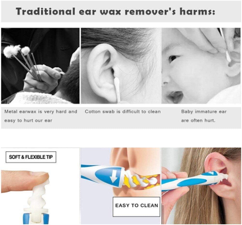 16 St/ück Sichere Q-Griffe Ohrenschmalzentfernungswerkzeug Weiche Silikon-Ohrenreinigungs-Spiralk/öpfe f/ür Erwachsene und Kinder ht04 Ohrenschmalzentferner