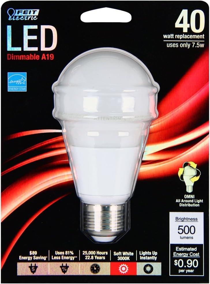 Feit 40W-Eq Soft White Multipurpose LED Bulb BPAG500DM-LED