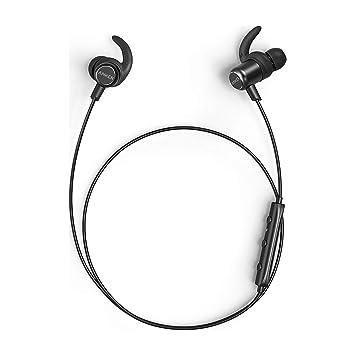Anker SoundBuds Slim + Auriculares inalambricos, Auriculares Bluetooth 4.1, con Accesorios Personalizables, Carcasa metálica y micrófono Incorporado ...