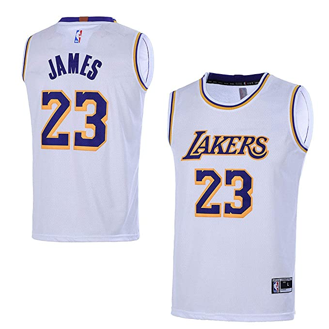 new style 16de2 491d2 Outerstuff Youth 8-20 Los Angeles Lakers #23 LeBron James Kids Jersey