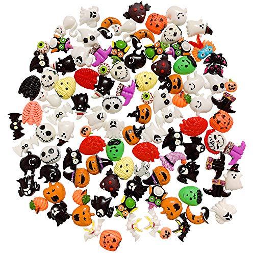 SIX VANKA 100pcs Miniature Halloween Decoration Sets DIY Flatback Resin Craft Embellishment All Saints' Day