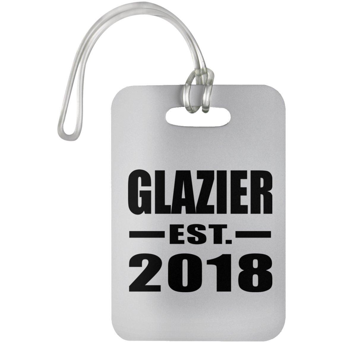 Designsify Glazier Established EST. 2018 - Luggage Tag Étiquette de Valise Croisière Valise Baguage - Cadeau pour Anniversaire Fête des Mères Fête des Pères Pâques