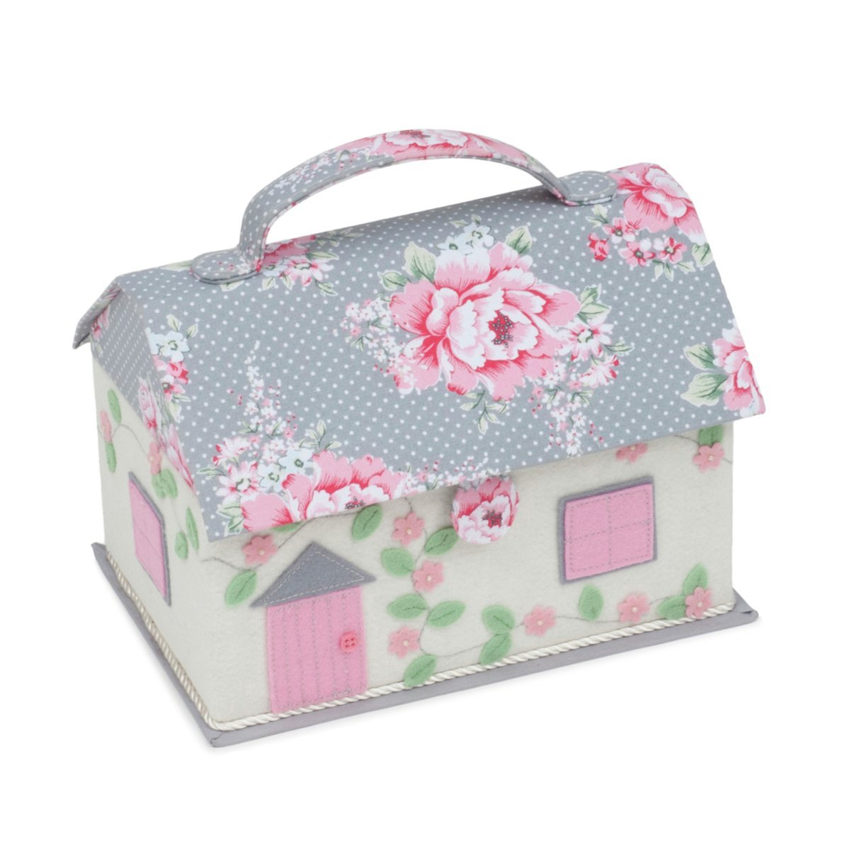 Hobby Gift Classic Cottage Sewing Box Beautiful Bloom by Hobby Gift