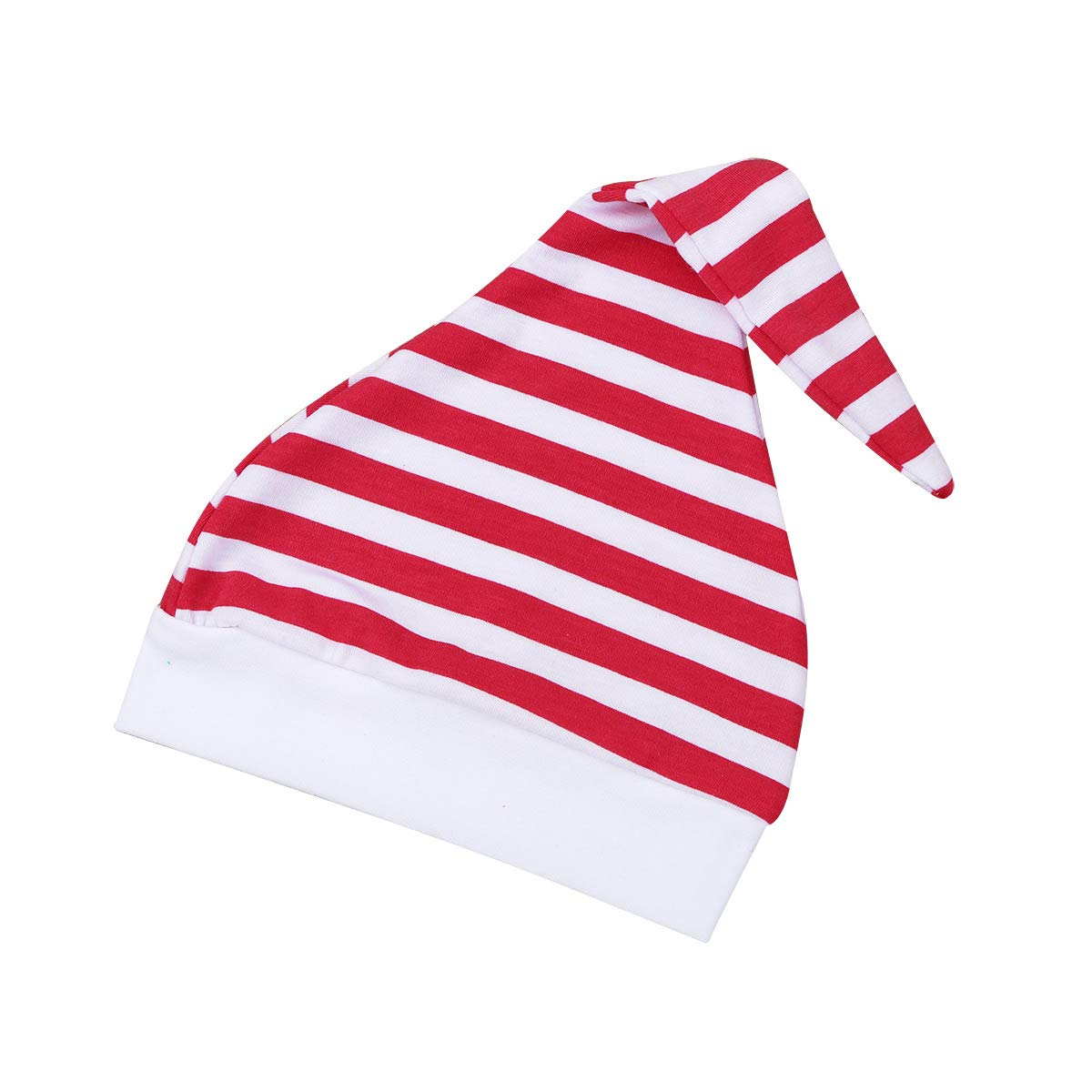 iEFiEL Infant Baby Boys Girls Christmas Outfits Santa Claus Costumes Long Sleeves Romper with Striped Leggings Hat Set Green 0-3 Months