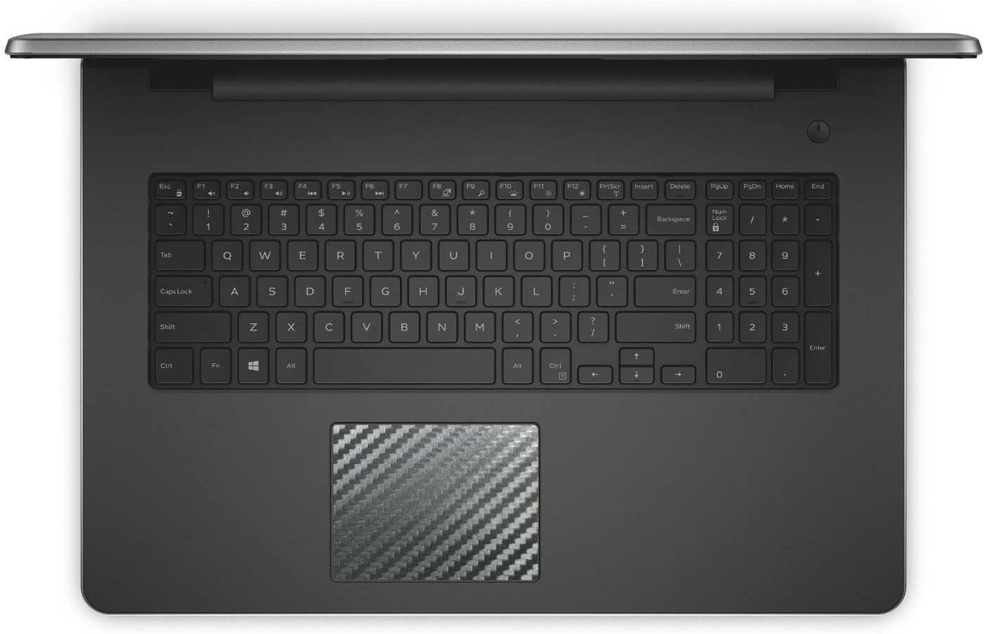 BingoBuy 5-Pack Black Carbon Fiber Touchpad Trackpad Decal Vinyl Sticker Skin Cover Protector for Dell inspiron 17-3000 17-5000 Series (17-3780/17-3781/17-3785/17-3793)