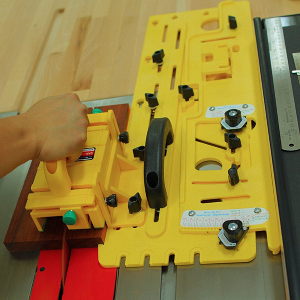 MicroJig Tapering Jig for Table Saw, Router Table, and Band Saws for Woodworking (Works with GRR-RIPPER)