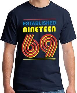 50th Birthday Gifts Men Established 1969 T Shirt