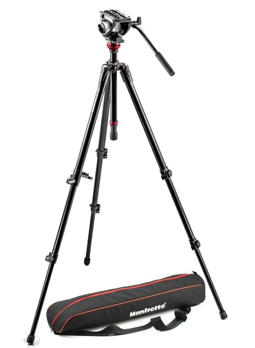 Manfrotto MVH500AH Lightweight Fluid Video System with Bag (Black)