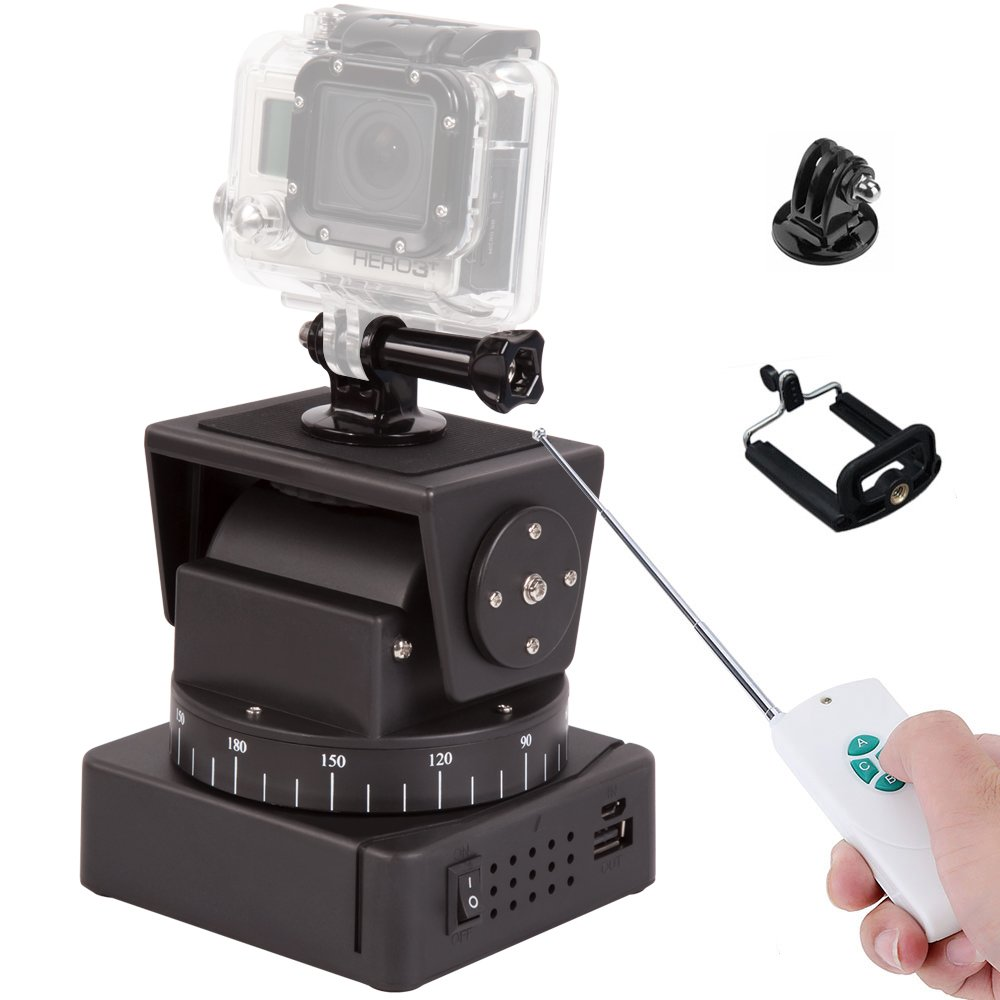Zifon YT-260 Automatic Remote Control Motorized Pan Tilt Head for Extreme Camera Wifi Camera and Smartphone iPhone iPhone Plus HUAWEI samsung sony mate OR069