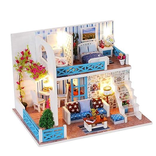 Casa de muñecas en miniatura Kits de casas de muñecas en ...