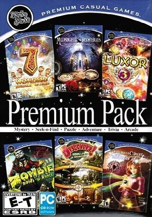 Mumbo Jumbo Premium Pack: 7 Wonders: Treasures Of The Seven + Midnight Mysteries: Edgar Allen Poe Conspiracy + Luxor 3 + Zombie Bowl-O-Rama + Discovery! + Samantha Swift: Fountains Of Fate [Importación Inglesa]: Amazon.es: Videojuegos