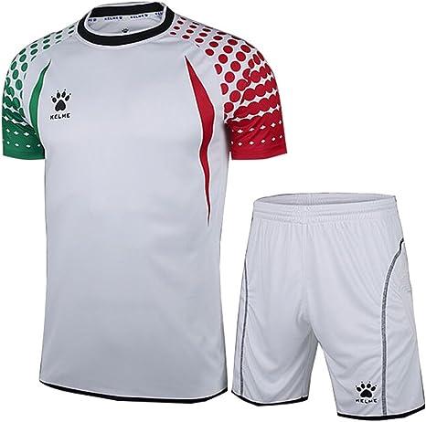 KELME - Juego de Camiseta de Portero de fútbol de Manga Corta, Color Blanco/Rojo/Verde, tamaño Large: Amazon.es: Deportes y aire libre