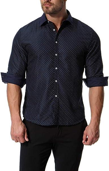 Chickwin Hombre Casual Manga Larga Camisa de Algodón, Moda ...