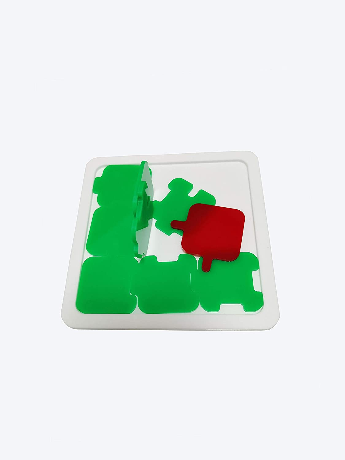 Sonpic Jigsaw Puzzles, Nosey Puzzle Acrylic 9 Pieces Puzzle Level 8- Intelligence Toy for Kids, Adults and Teenages-Apple Shape Puzzle