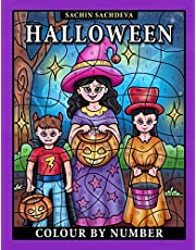 Halloween Colour by Number: Coloring Book for Kids Ages 4-8
