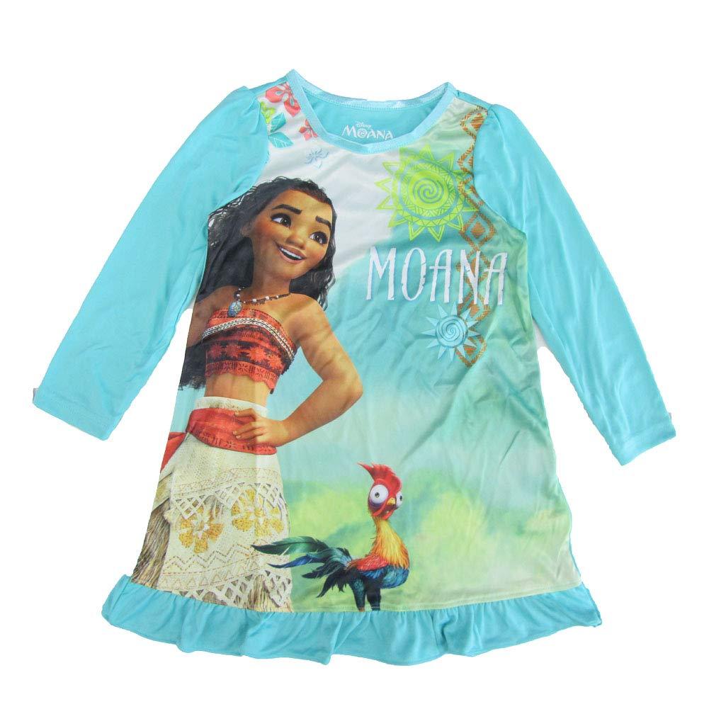 Disney Girls' Little Moana Nightgown, Oceana Queen, 4