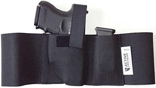 Active Pro Gear Belly Band Holster for Gun Concealed Carry Defender | Elastic Waist Band Wrap Belt for Handgun Concealment